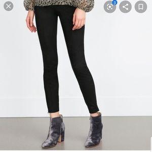 Zara faux suede legging pant